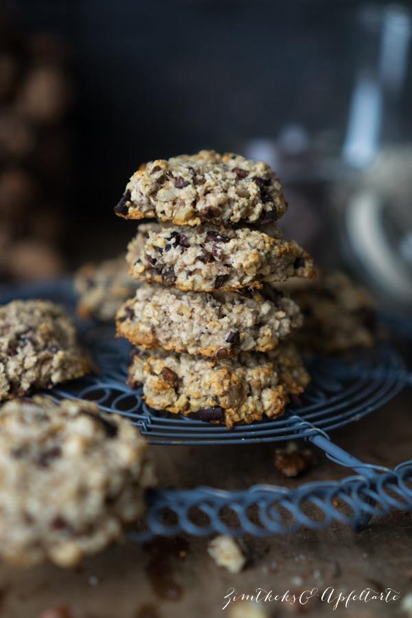 Vegane Bananen-Haferflocken-Cookies - einfaches Rezept