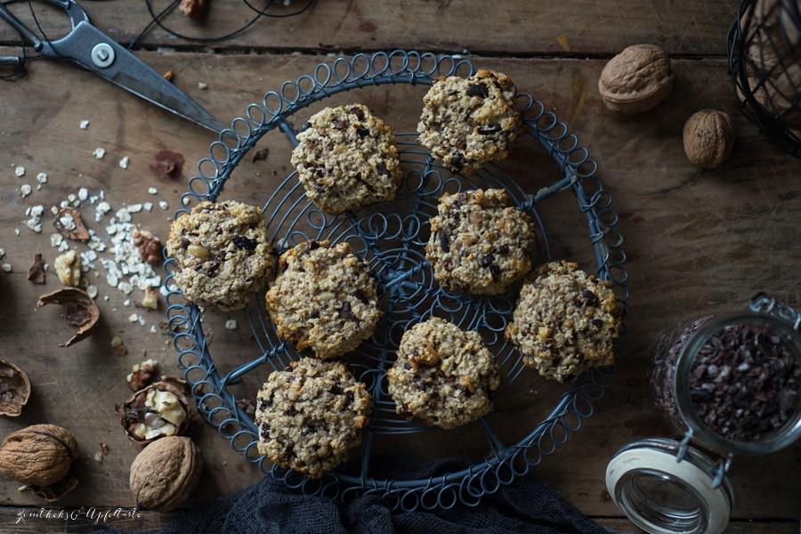 Vegane Bananen-Haferflocken-Cookies