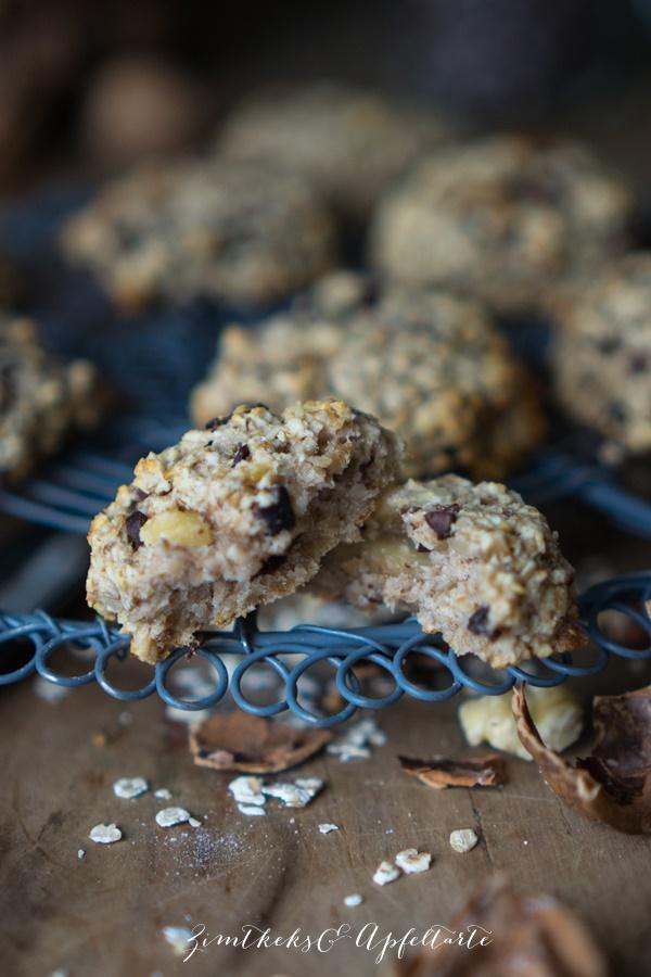 Vegane Bananen-Haferflocken-Cookies ganz lecker und einfach