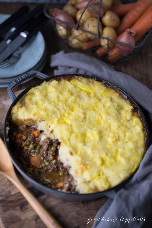 Rezept Sheperd's Pie - Hackfleischauflauf mit Kartoffelhaube - ganz einfach und gelingsicher