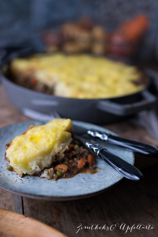 Gelingsicheres Rezept Sheperd's Pie - Hackfleischauflauf mit Kartoffelhaube