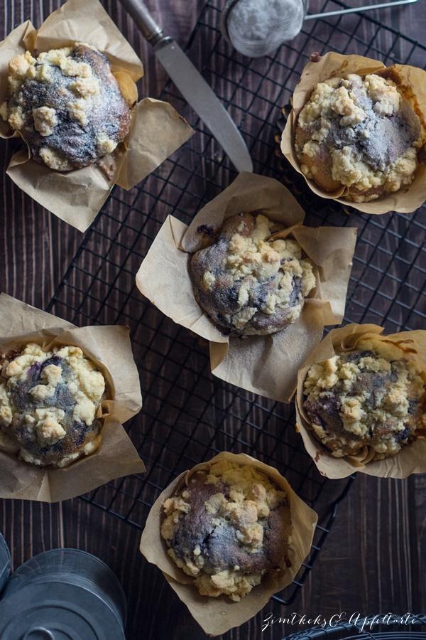 Beste Blaubeer-Streusel-Muffins ever - selber backen wie im Coffeeshop