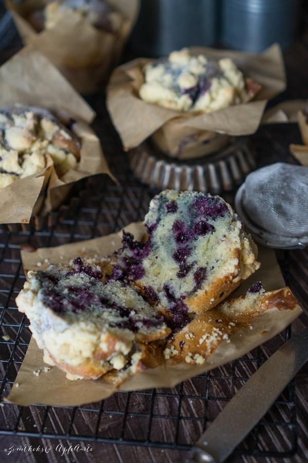 Einfaches und gelingsicheres Rezept für beste Blaubeer-Streusel-Muffins ever