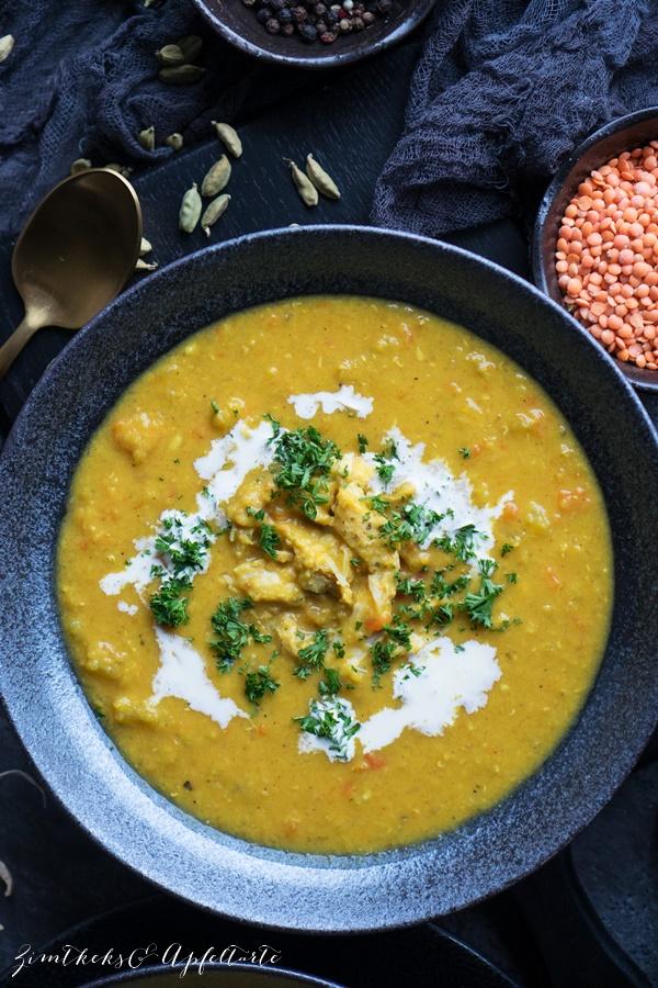 Rezept Mulligatawny Suppe - ganz einfaches und gelingsicheres Rezept für indische Currysuppe