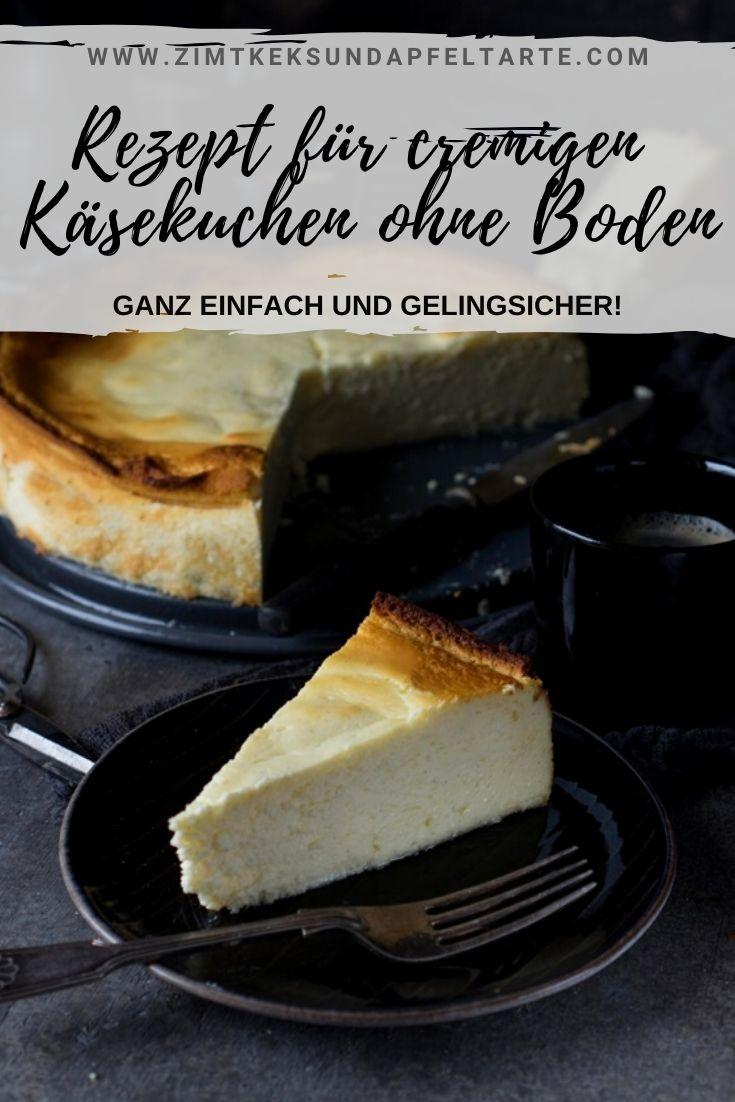 Einfaches und gelingsicheres Rezept für einen schnellen saftigen Käsekuchen ohne Boden. Tolles Rezept zum selber backen für diesen klassischen Käsekuchen mit Quark