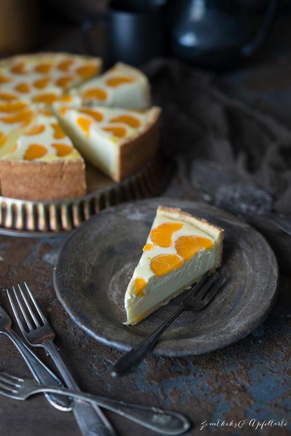 Schnelles und einfaches Rezept für Schmandkuchen mit Mandarinen oder Faule Weiber Kuchen