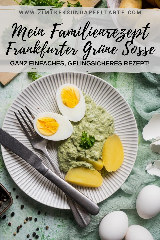 Mein einfaches und gelingsicheres Rezept für Frankfurter Grüne Soße - Grie Soß - ganz einfach zum selber machen! Tolle Kräutersoße zu Eiern oder Tafelspitz oder Schnitzel, ganz einfach - ganz ohne kochen!