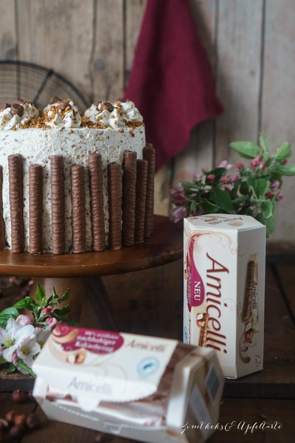 Nuss-Sahne-Torte - einfaches und gelingsicheres Rezept