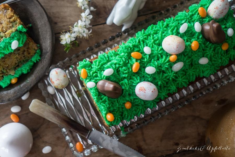 Einfach und gelingsicher: saftiger Rüblikuchen - Carrot-Cake - mit Mascarpone-Topping