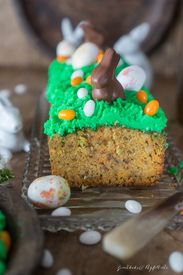 saftiger Rüblikuchen - Carrot-Cake - mit Mascarpone-Topping einfaches Rezept