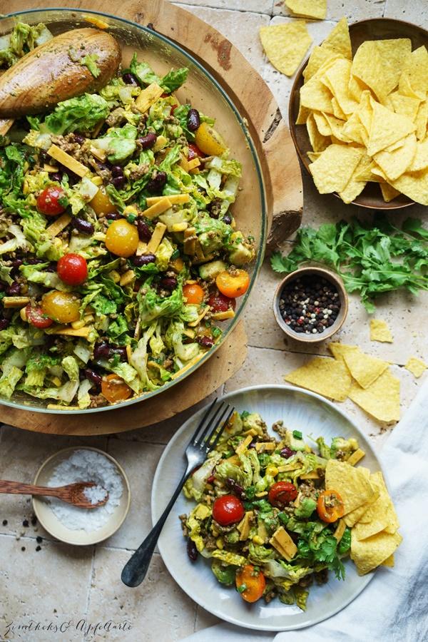 Rezepte für leckere und gelingsichere Sommersalate Taco Salat