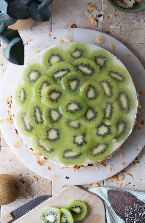 einfach und schnell ohne backen: Joghurt-Kiwi-Törtchen no bake