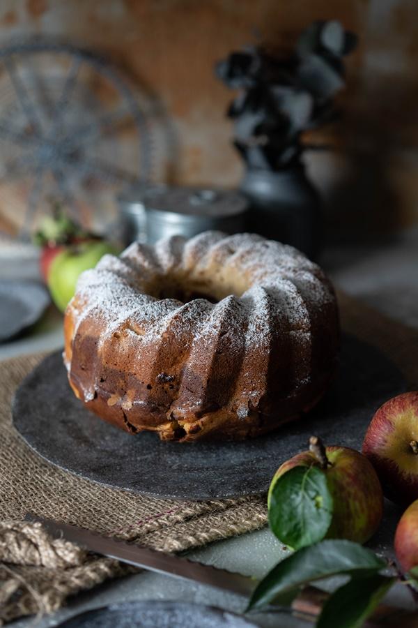 Rezept für Marmorkuchen mit Apfel - gelingsicheres und einfaches Rezept